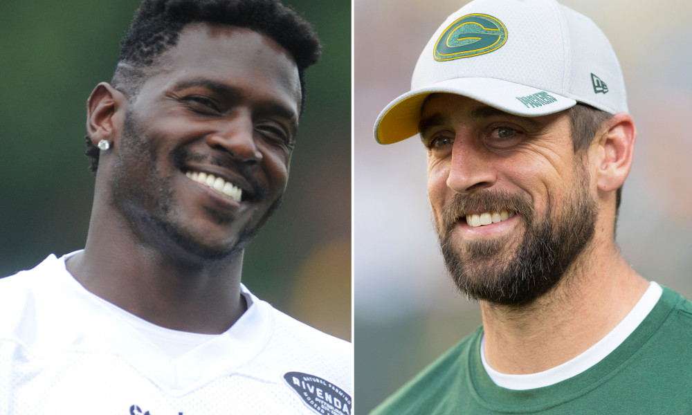 Antonio Brown praises Aaron Rodgers: 'Even better thing to be a great  person'