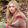 Miley Cyrus Wears Long Blonde Wig for Upcoming Amazon Series